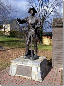 Statue of George Washington at age 16 in Winchester, VA