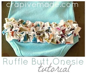 Ruffle Butt Onesie Tutorial by Crap Ive Made