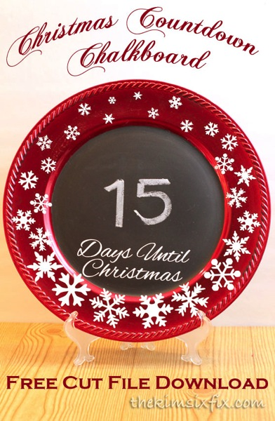 Christmas chalkboard free download