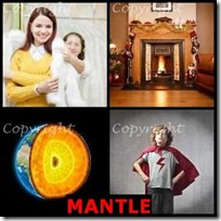 MANTLE- 4 Pics 1 Word Answers 3 Letters