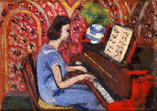 Petite Pianiste, robe bleue