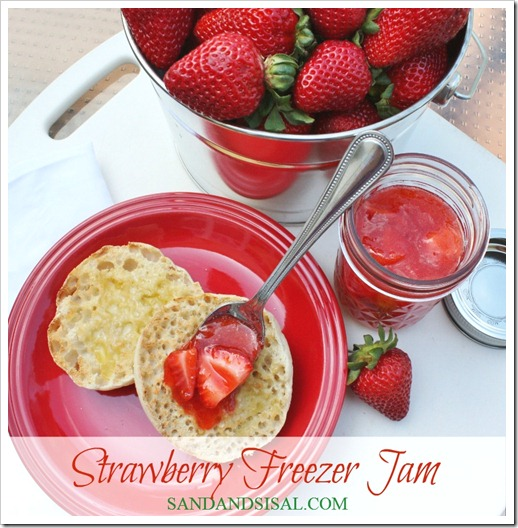 Strawberry Freezer Jam, Homemade strawberry jam, strawberry preserves