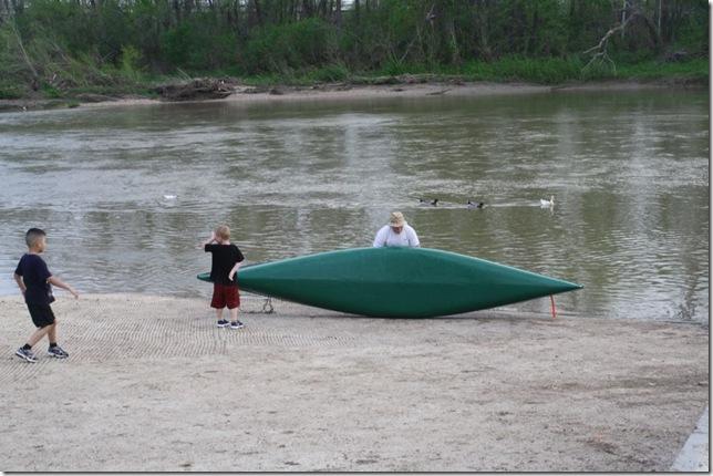 Dan, Derrick, Zane boat sideways