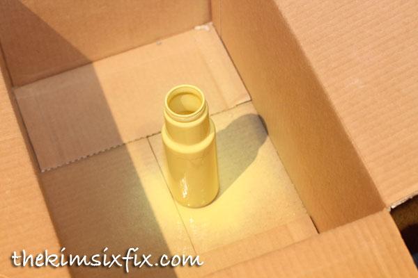Spray paint starbucks bottle