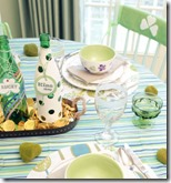 St Patrics day tablescape