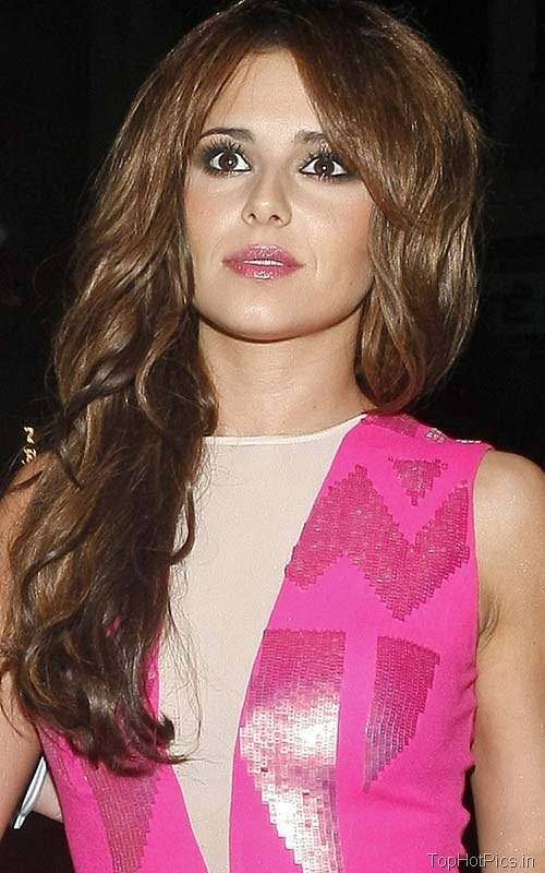 Cheryl Cole Hot Pics in Pink Short Dress 2