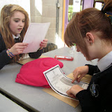 Caitlin O Toole and Amy Mc Gettigan receiving their results (2).JPG