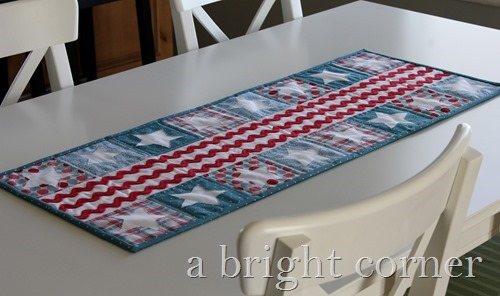 Patriotic Parade table runner