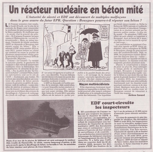 Maison de maçon en forme de centrale nucléaire