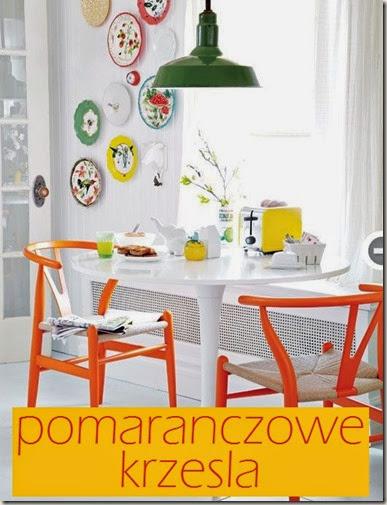 pomarańczowe krzesła