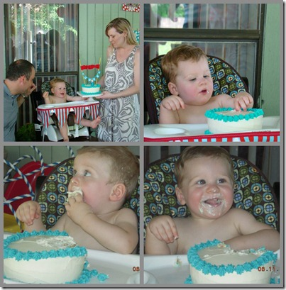 Eating Cake collage