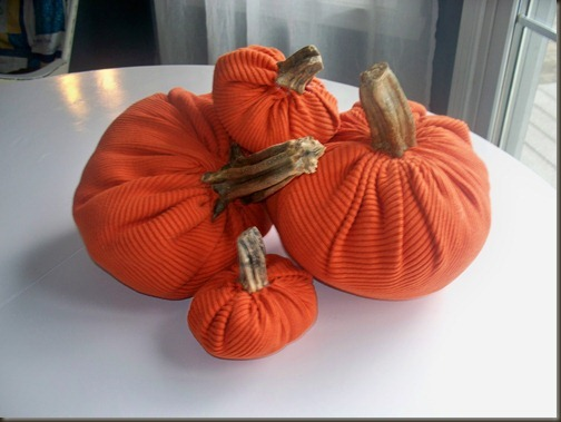 pumpkin made from a sweater