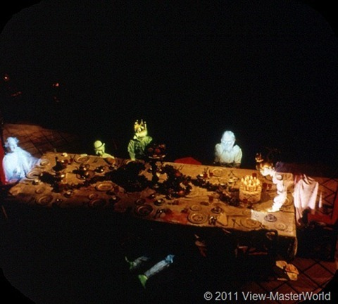 View-Master New Orleans Square (A180), Scene 3-3: Ghostly Dinner Party
