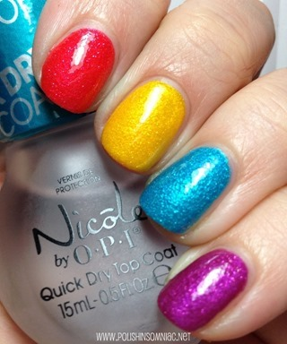 OPI Beach Sandies Mini Laquers from Brazil by OPI with Top Coat