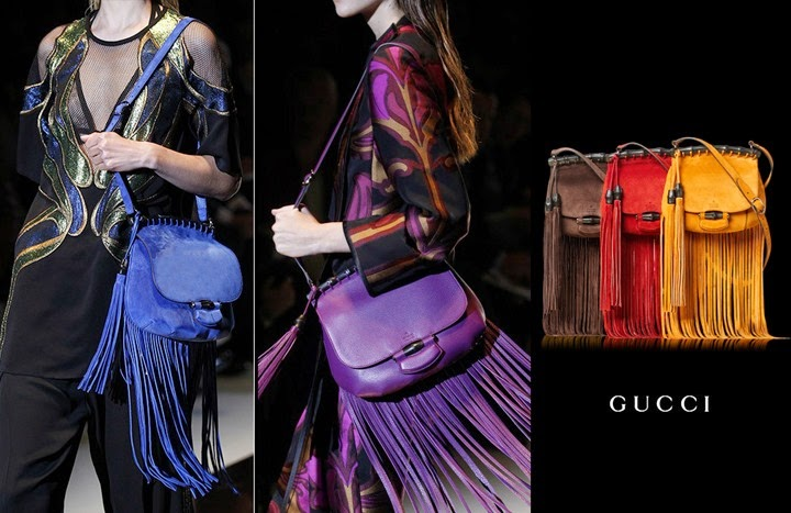 gucci Bamboo Fringe bag bolsa 2014