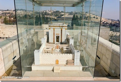 Temple model overlooking Temple Mount, tb010312507