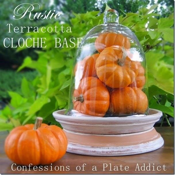 CONFESSIONS OF A PLATE ADDICT Rustic Terracotta Cloche Base