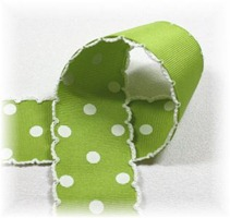 green moonstitch polka dot