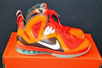nike lebron 9 ps elite lebron pe galaxy 3 03 Closer Look at Nike LeBron 9 P.S. Blue Flame and Tennis Balls PEs