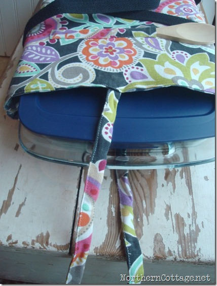 Casserole Tote with Baking Pan@NorthernCottage.net