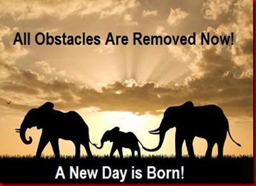all obstacles are removed