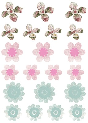 Floral Elegance Elements Sheet - Flowers 2