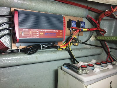 Waterproof battery charger install