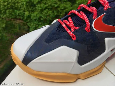 nike lebron 11 gr black white red mango 2 04 independence day This USA Themed Nike LeBron XI Drops on... Independence Day