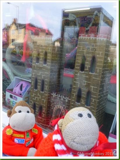 Christmas window display Bilbrook, motorworld