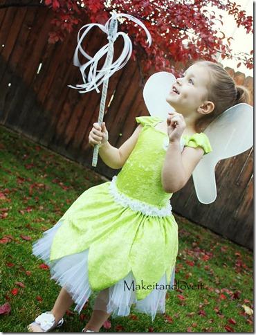 Disfraz de Campanita para niñas con tutorial,