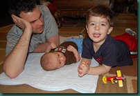 daddy and boys playing 2