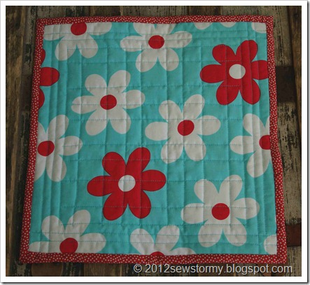 Mini Star Quilt Back