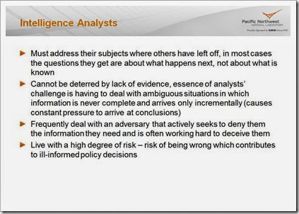 Intelligence Analysts