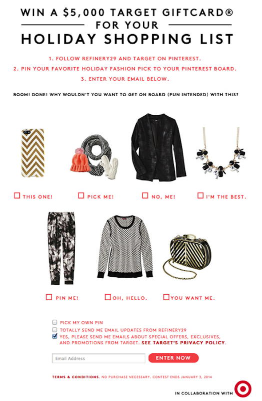 Win $5,000 from Target + Refinery29!
