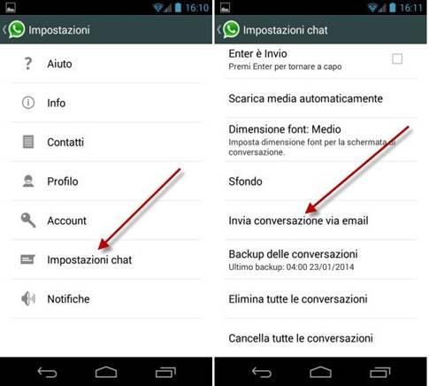whatsapp-invia-conversazione-email