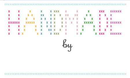Cross Stitch Label 3