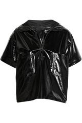 Karl Hooded PVC top