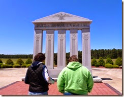 Tricia and Gin at the GA Veterans Monument