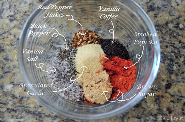 Ingredients for Grilled Ribeye Steaks with Vanilla Coffee Rub and a Giveaway!  http://uTry.it