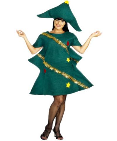 disfraz para navidad de arbol navideño para mujer