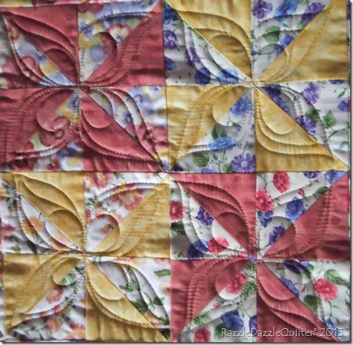 How to quilt a pinwheel block