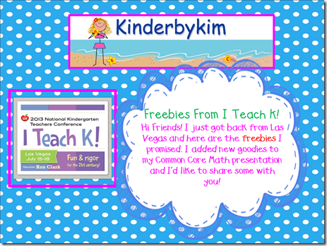 I teach K blog 23 first slide