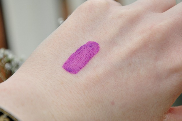 Lush Cosmetics Makeup Beauty Liquid Lipstick Drive Purple Swatch