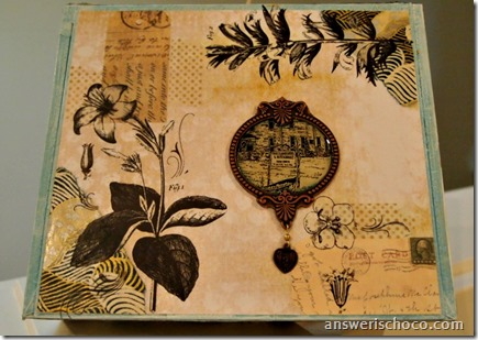 Altered Beach and Floral Cigar Box