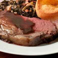 Horseradish-Herb Rib Roast with Mushroom–Red Wine Sauce Recipe