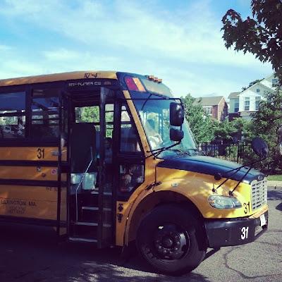 Kindergarten最後のスクールバス