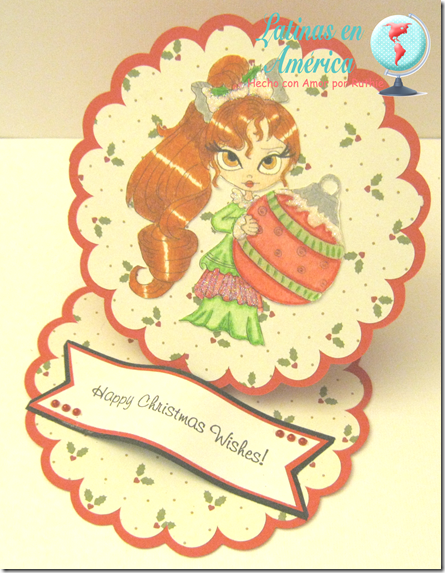 Lucy Sunshine Digital stamps - Isabella Christmas Ornament digi - Latinas en America - Ruthie Lopez - My Hobby = My Art 2