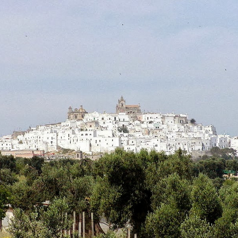 Ostuni the White City, suspended between the blue Adriatic and the green hills of olive trees.