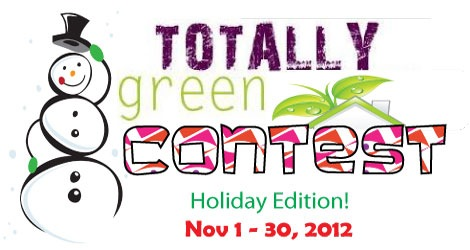 Holiday Craft Contest at Totally Green Crafts - fabulous prize package!