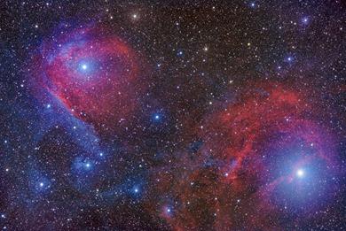 nebulosa de reflexão na constelação do Escorpião